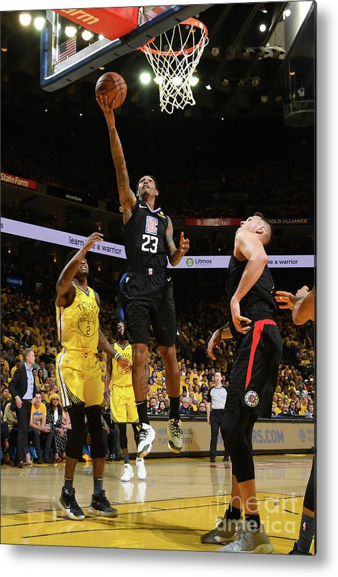 Playoffs Metal Print featuring the photograph La Clippers V Golden State Warriors - by Noah Graham
