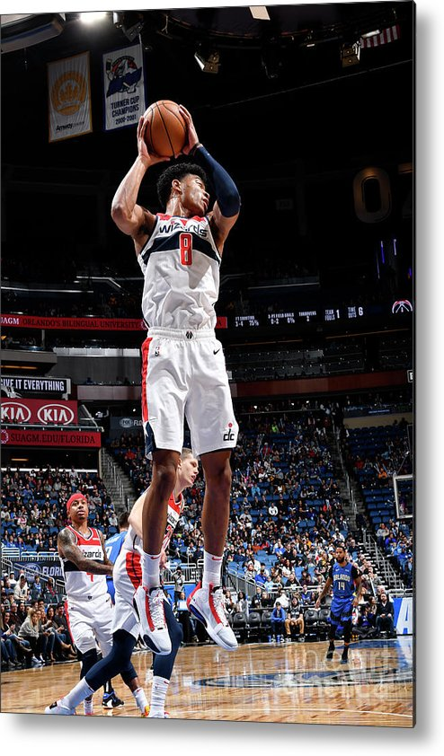 Nba Pro Basketball Metal Print featuring the photograph Washington Wizards V Orlando Magic by Fernando Medina