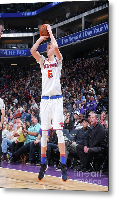 Nba Pro Basketball Metal Print featuring the photograph New York Knicks V Sacramento Kings by Rocky Widner
