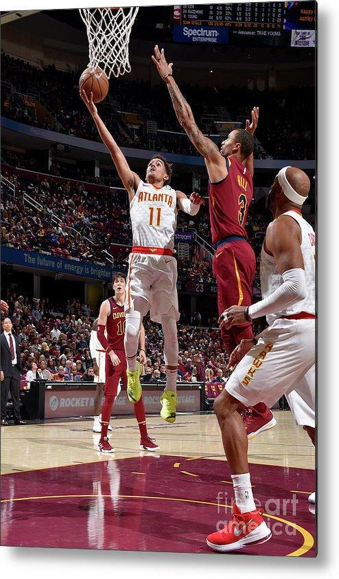Nba Pro Basketball Metal Print featuring the photograph Atlanta Hawks V Cleveland Cavaliers by David Liam Kyle