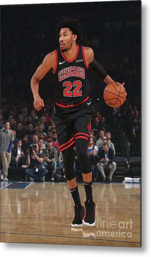 Chicago Bulls Metal Print featuring the photograph Chicago Bulls V New York Knicks by Nathaniel S. Butler