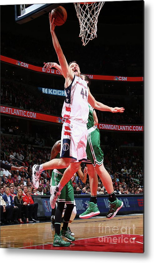 Playoffs Metal Print featuring the photograph Boston Celtics V Washington Wizards - by Ned Dishman