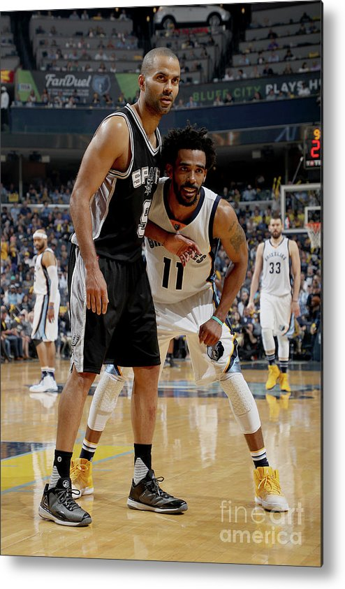 Playoffs Metal Print featuring the photograph San Antonio Spurs V Memphis Grizzlies - by Joe Murphy