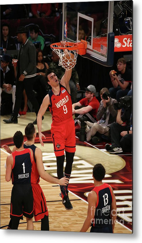 Smoothie King Center Metal Print featuring the photograph Bbva Compass Rising Stars Challenge 2017 by Gary Dineen