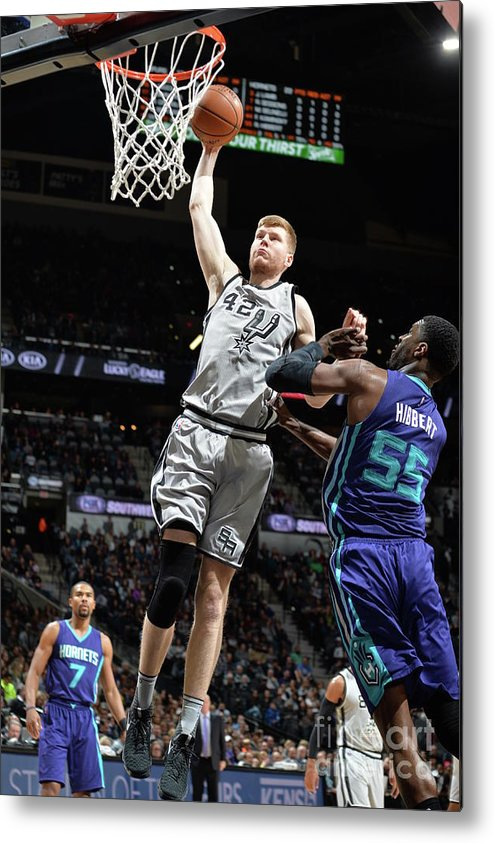 Nba Pro Basketball Metal Print featuring the photograph Charlotte Hornets V San Antonio Spurs by Mark Sobhani