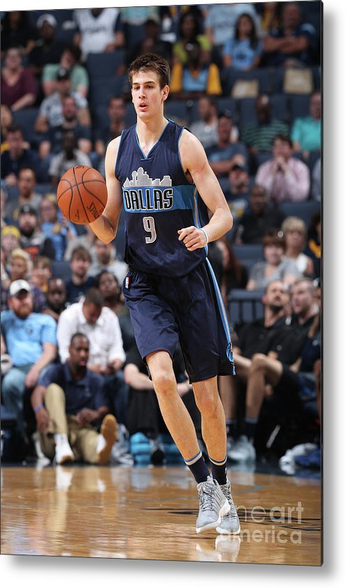 Nba Pro Basketball Metal Print featuring the photograph Dallas Mavericks V Memphis Grizzlies by Joe Murphy