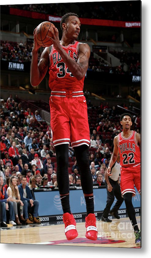 Nba Pro Basketball Metal Print featuring the photograph Denver Nuggets V Chicago Bulls by Gary Dineen