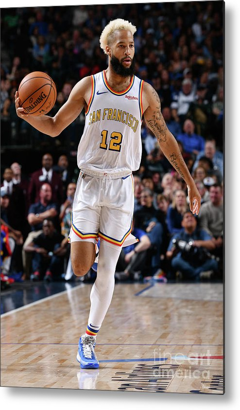 Nba Pro Basketball Metal Print featuring the photograph Golden State Warriors V Dallas Mavericks by Glenn James