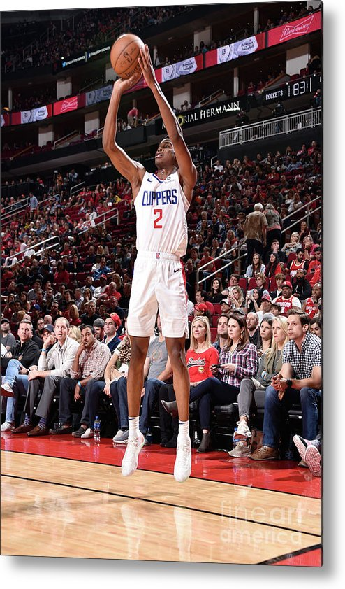 Nba Pro Basketball Metal Print featuring the photograph La Clippers V Houston Rockets by Bill Baptist