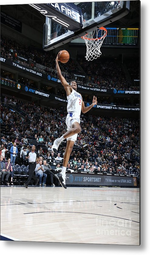 Nba Pro Basketball Metal Print featuring the photograph Los Angeles Clippers V Utah Jazz by Melissa Majchrzak