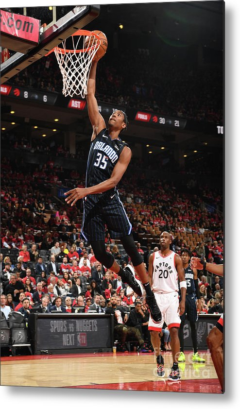 Playoffs Metal Print featuring the photograph Orlando Magic V Toronto Raptors - Game by Ron Turenne