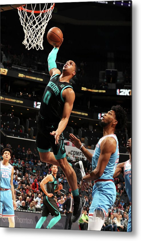 Nba Pro Basketball Metal Print featuring the photograph Sacramento Kings V Charlotte Hornets by Kent Smith