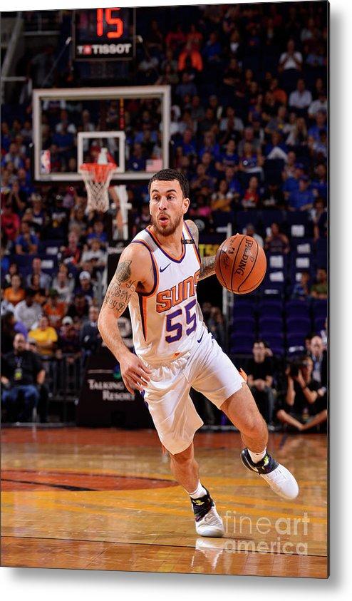 Nba Pro Basketball Metal Print featuring the photograph Sacramento Kings V Phoenix Suns by Barry Gossage