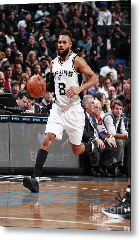 Nba Pro Basketball Metal Print featuring the photograph San Antonio Spurs V Brooklyn Nets by Nathaniel S. Butler