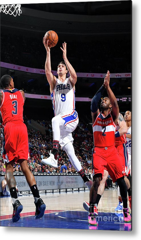 Nba Pro Basketball Metal Print featuring the photograph Washington Wizards V Philadelphia 76ers by Jesse D. Garrabrant