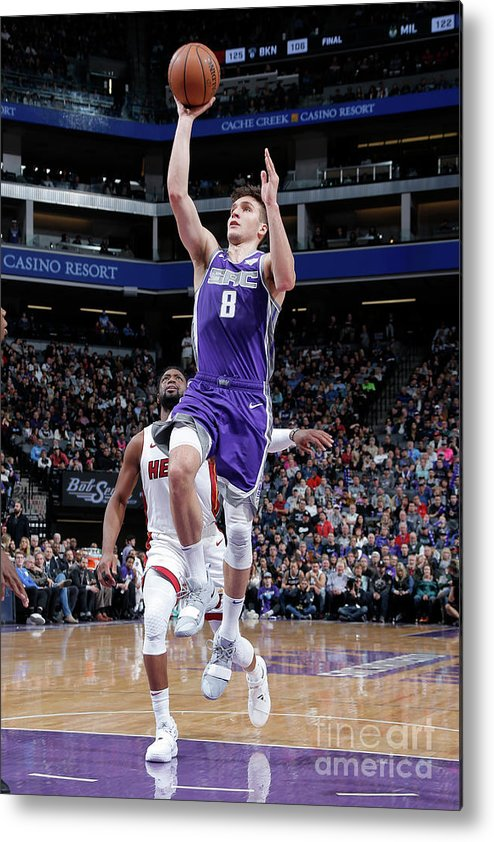 Nba Pro Basketball Metal Print featuring the photograph Miami Heat V Sacramento Kings by Rocky Widner
