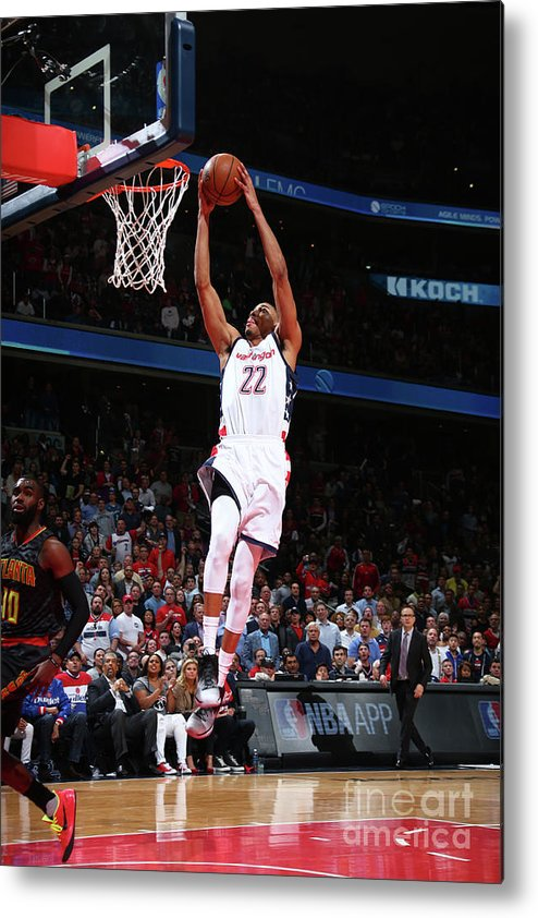 Playoffs Metal Print featuring the photograph Atlanta Hawks V Washington Wizards by Ned Dishman