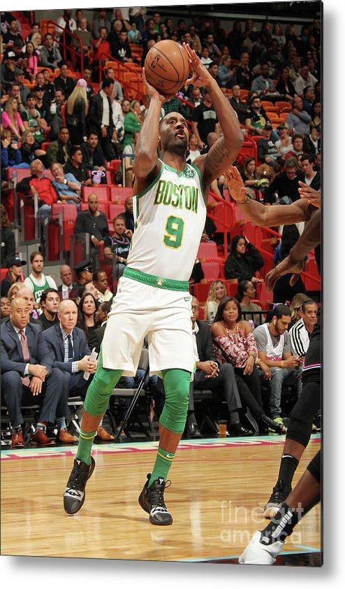 Nba Pro Basketball Metal Print featuring the photograph Boston Celtics V Miami Heat by Oscar Baldizon