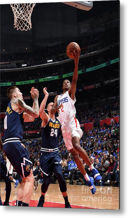 Nba Pro Basketball Metal Print featuring the photograph Denver Nuggets V La Clippers by Adam Pantozzi