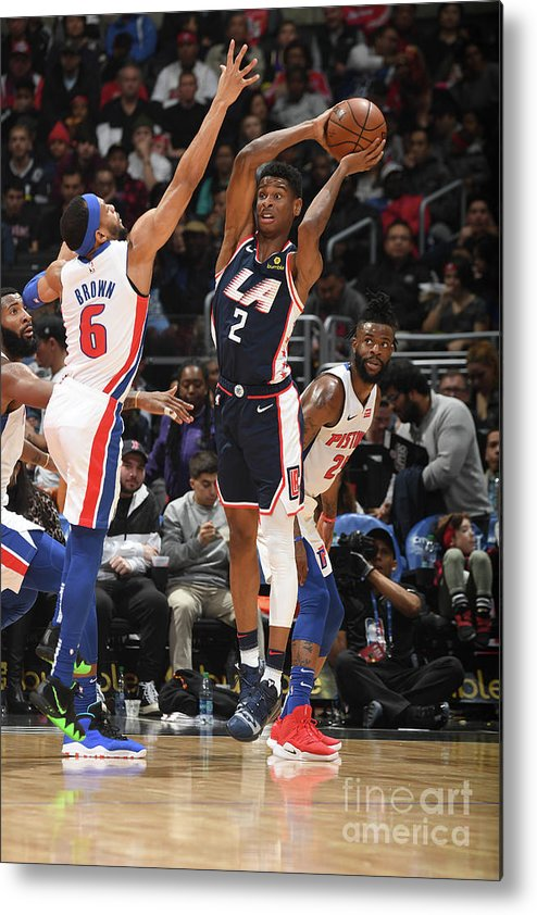 Nba Pro Basketball Metal Print featuring the photograph Detroit Pistons V La Clippers by Andrew D. Bernstein