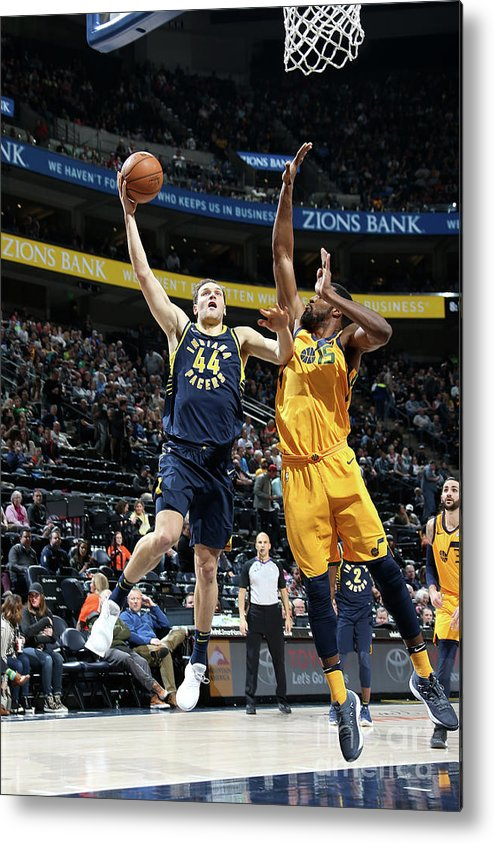 Nba Pro Basketball Metal Print featuring the photograph Indiana Pacers V Utah Jazz by Melissa Majchrzak