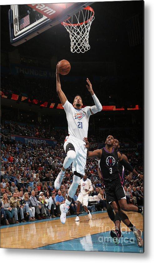 Nba Pro Basketball Metal Print featuring the photograph La Clippers V Oklahoma City Thunder by Layne Murdoch