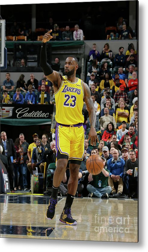 Nba Pro Basketball Metal Print featuring the photograph Lebron James by Ron Hoskins