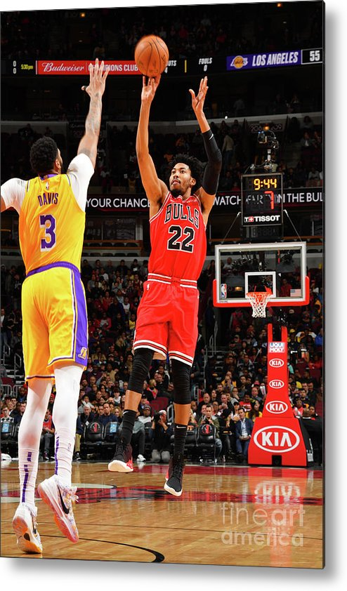 Chicago Bulls Metal Print featuring the photograph Los Angeles Lakers V Chicago Bulls by Jesse D. Garrabrant