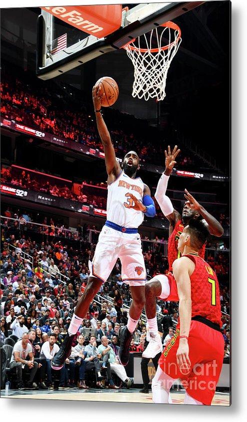 Atlanta Metal Print featuring the photograph New York Knicks V Atlanta Hawks by Scott Cunningham