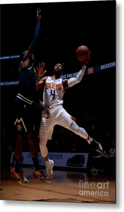 Nba Pro Basketball Metal Print featuring the photograph Phoenix Suns V Denver Nuggets by Bart Young