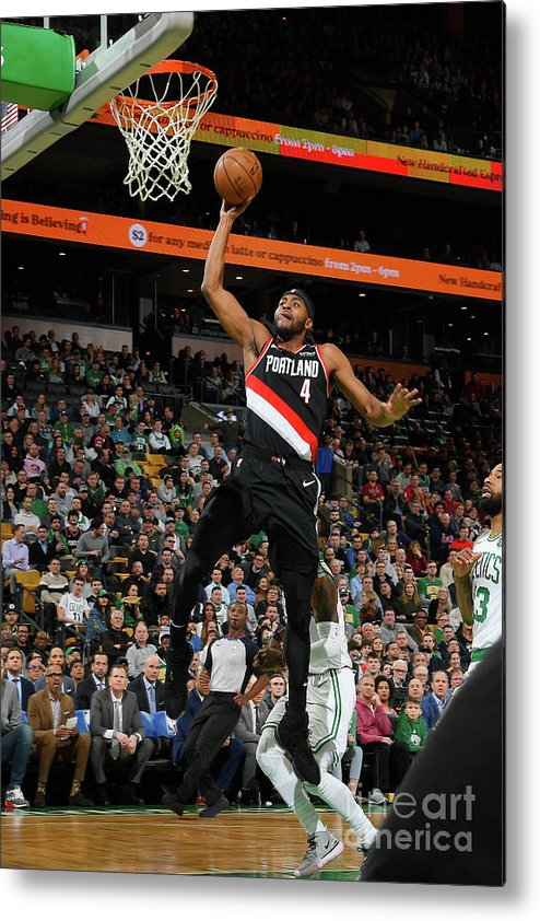 Moe Harkless Metal Print featuring the photograph Portland Trail Blazers V Boston Celtics by Brian Babineau