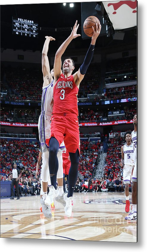 Smoothie King Center Metal Print featuring the photograph Sacramento Kings V New Orleans Pelicans by Layne Murdoch Jr.