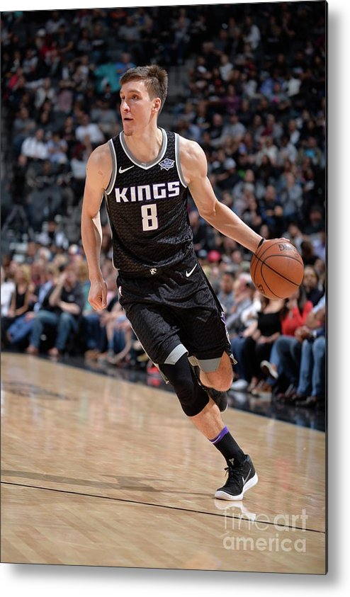 Nba Pro Basketball Metal Print featuring the photograph Sacramento Kings V San Antonio Spurs by Mark Sobhani