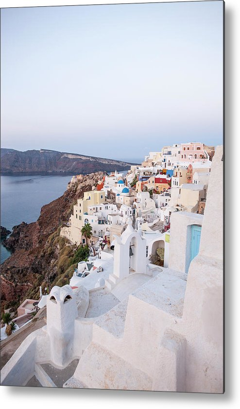 Tranquility Metal Print featuring the photograph Santorini, Greece by Neil Emmerson