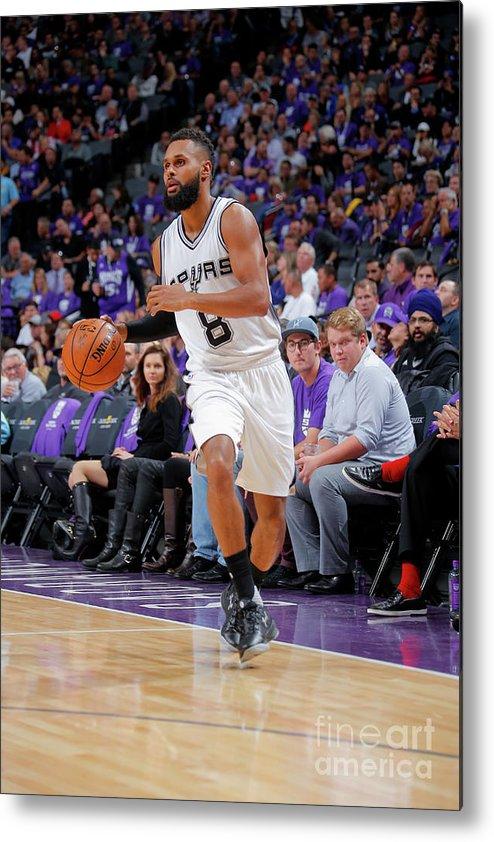 Nba Pro Basketball Metal Print featuring the photograph San Antonio Spurs V Sacramento Kings by Rocky Widner