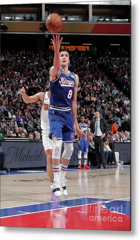 Nba Pro Basketball Metal Print featuring the photograph Phoenix Suns V Sacramento Kings by Rocky Widner