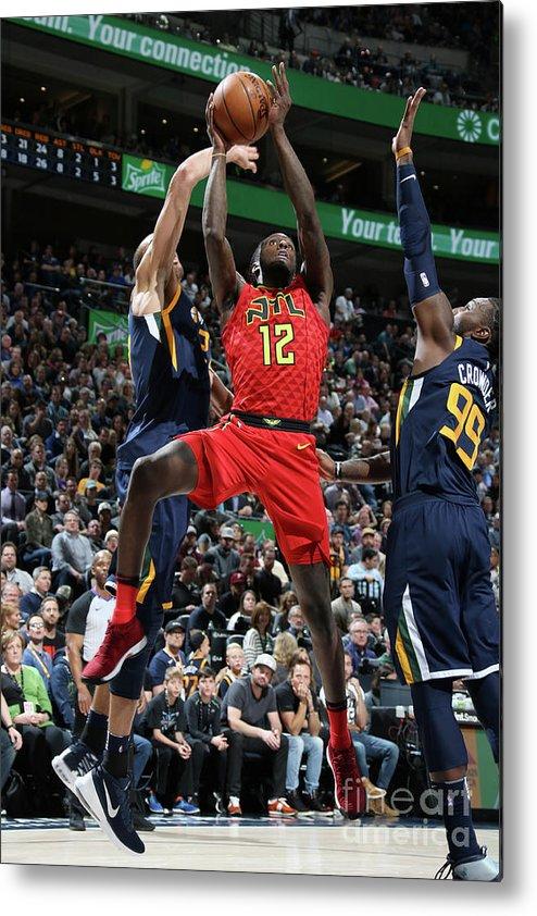 Nba Pro Basketball Metal Print featuring the photograph Atlanta Hawks V Utah Jazz by Melissa Majchrzak