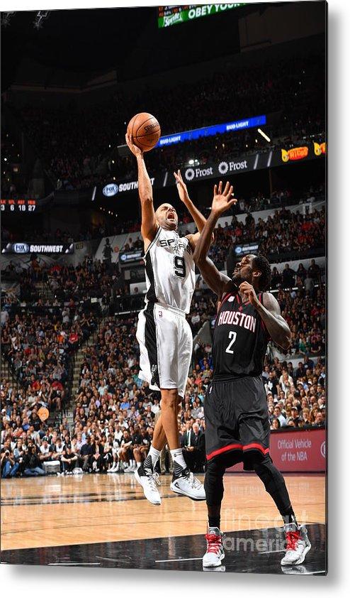 Playoffs Metal Print featuring the photograph Houston Rockets V San Antonio Spurs - by Jesse D. Garrabrant