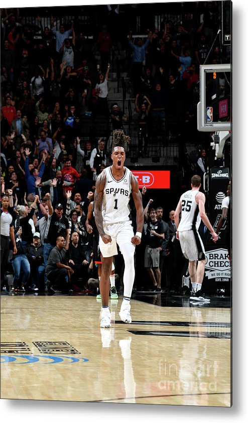 Nba Pro Basketball Metal Print featuring the photograph Houston Rockets V San Antonio Spurs by Logan Riely