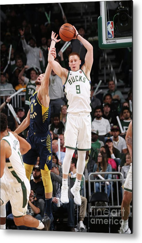 Nba Pro Basketball Metal Print featuring the photograph Indiana Pacers V Milwaukee Bucks by Gary Dineen