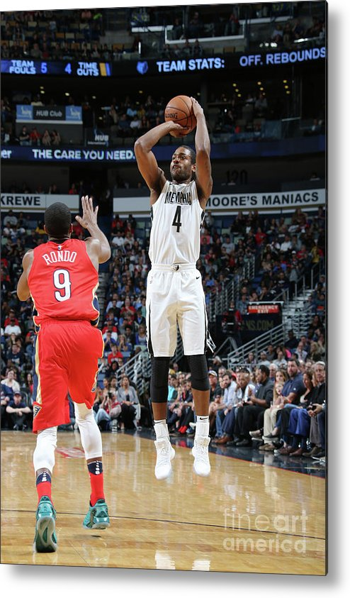 Smoothie King Center Metal Print featuring the photograph Memphis Grizzlies V New Orleans Pelicans by Layne Murdoch Jr.