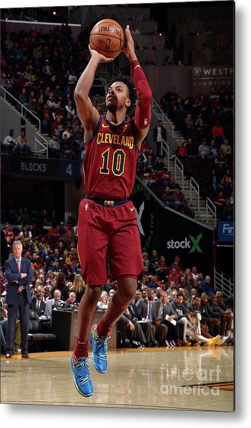 Nba Pro Basketball Metal Print featuring the photograph Philadelphia 76ers V Cleveland Cavaliers by David Liam Kyle