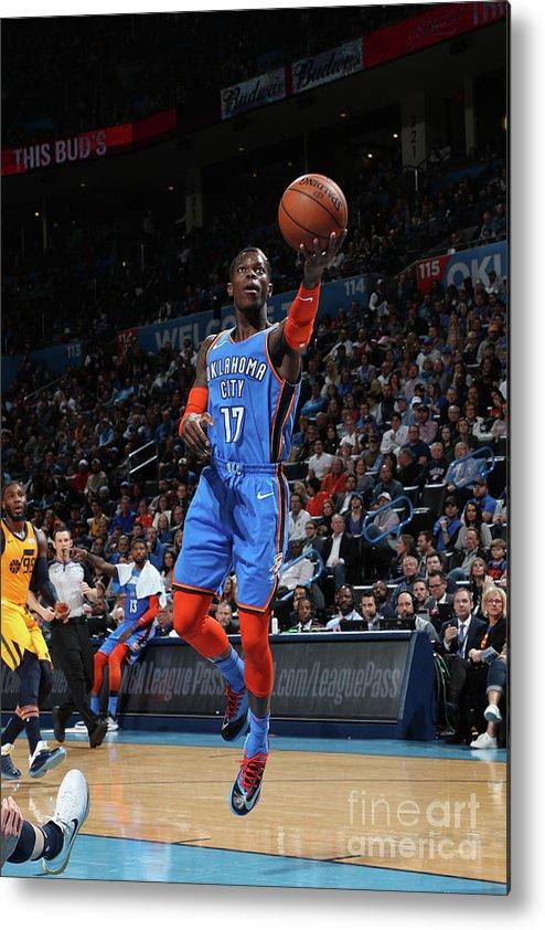 Nba Pro Basketball Metal Print featuring the photograph Utah Jazz V Oklahoma City Thunder by Zach Beeker