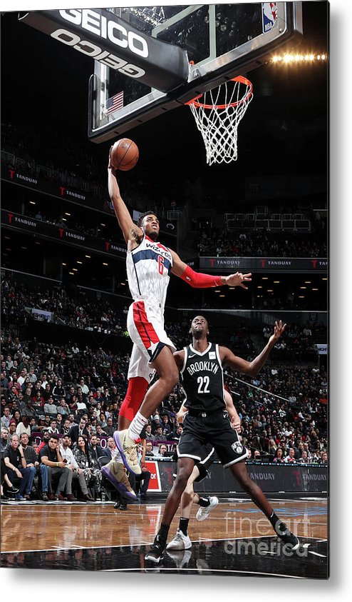 Nba Pro Basketball Metal Print featuring the photograph Washington Wizards V Brooklyn Nets by Nathaniel S. Butler