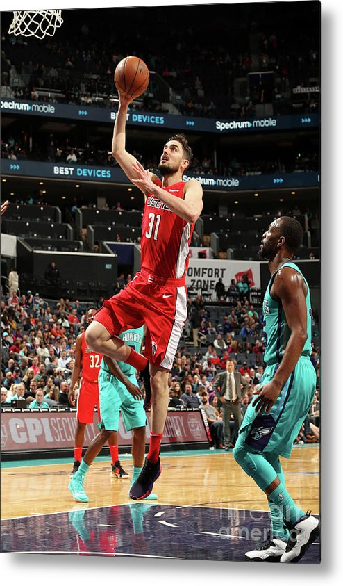 Nba Pro Basketball Metal Print featuring the photograph Washington Wizards V Charlotte Hornets by Kent Smith