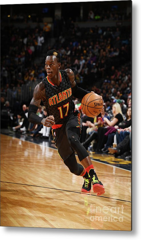 Nba Pro Basketball Metal Print featuring the photograph Atlanta Hawks V Denver Nuggets by Garrett Ellwood