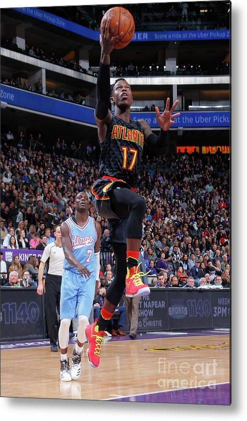 Nba Pro Basketball Metal Print featuring the photograph Atlanta Hawks V Sacramento Kings by Rocky Widner