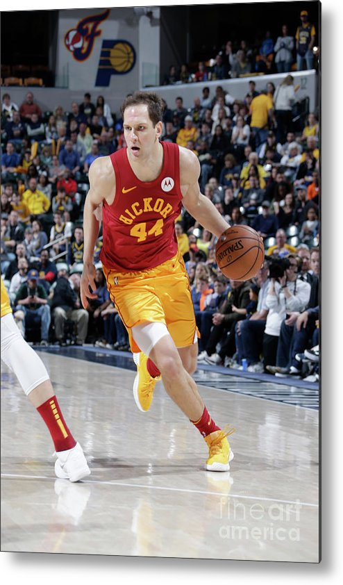 Nba Pro Basketball Metal Print featuring the photograph Brooklyn Nets V Indiana Pacers by Ron Hoskins