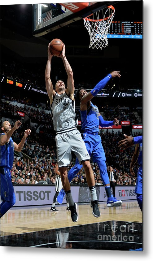 Nba Pro Basketball Metal Print featuring the photograph Dallas Mavericks V San Antonio Spurs by Mark Sobhani