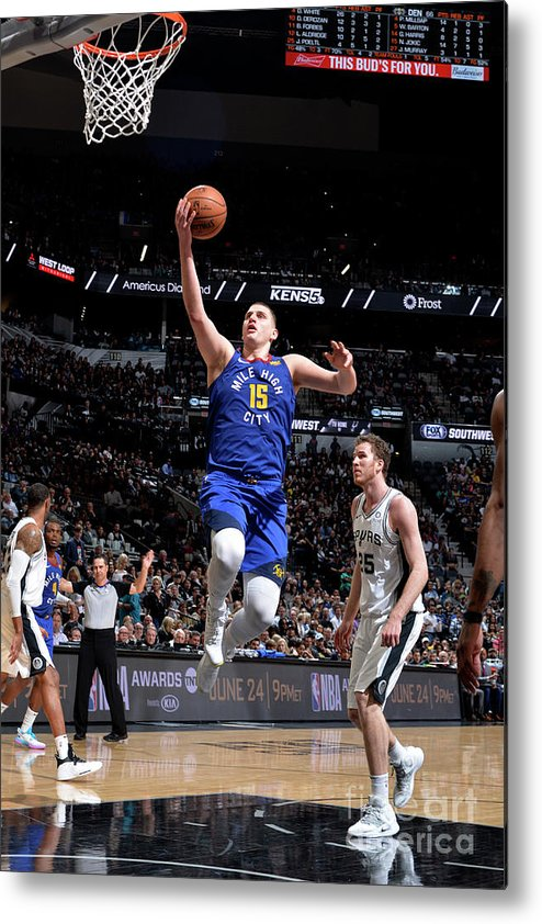 Playoffs Metal Print featuring the photograph Denver Nuggets V San Antonio Spurs - by Mark Sobhani